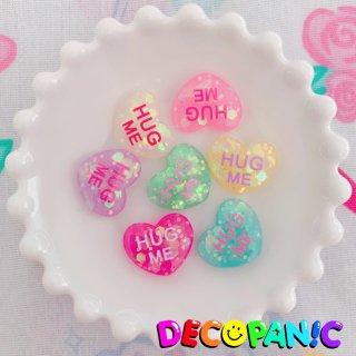 【B225】当店限定【HUG ME】ホログラムハーツ※土台ビビッドピンクは白文字に改良しました★