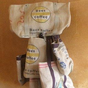 コーヒー豆麻袋トートバック