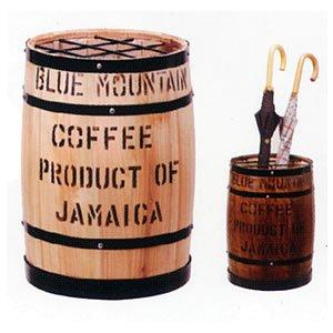 コーヒー樽傘立(白)