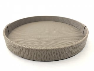 ROUND TRAY GEA LARGE FIRENZE / TAUPE