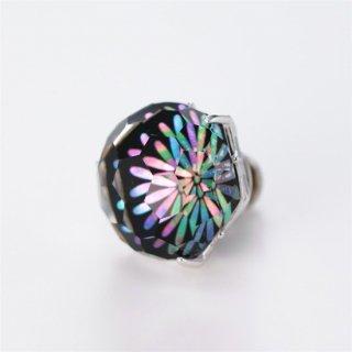 プリズムが美しい水晶螺鈿【花火】のピンズ