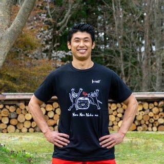 Kenta Tシャツ neko×kani(黒)