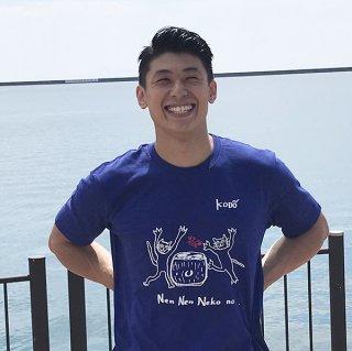 Kenta Tシャツ neko×kani(ナイトブルー)