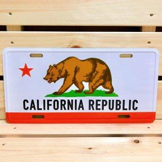 カリフォルニア州旗柄のサインプレート