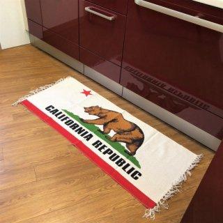 カリフォルニア州旗柄キッチンマット