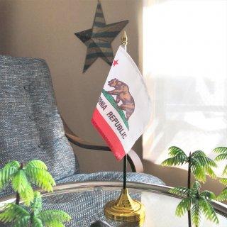 カリフォルニア州旗の卓上フラッグ(独立用ホルダー付き)
