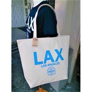 今は無きパン・アメリカン航空の空港コード柄トートバッグ LAX ロサンゼルス国際空港