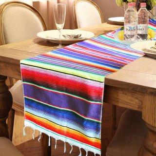 Mexican Serape メキシカンサラペ アウトドアやテーブルランナー等のインテリアに最適♪