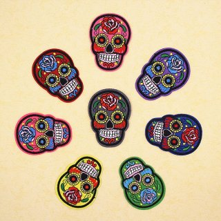 メキシカン・シュガースカルのワッペン8色セット