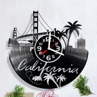 California レコード盤型クロック