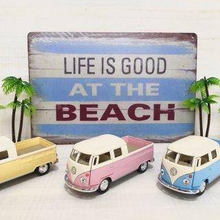 西海岸風インテリアを演出♪LIFE IS GOOD AT THE BEACH のブリキ看板