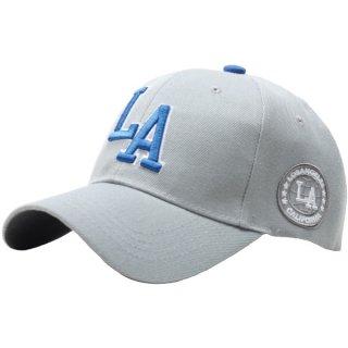 LA ベースボールキャップ (グレー×ブルー)
