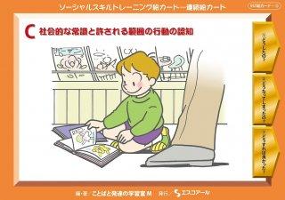 SST絵カード・連続絵カード C 社会的な常識と許される範囲の行動の認知
