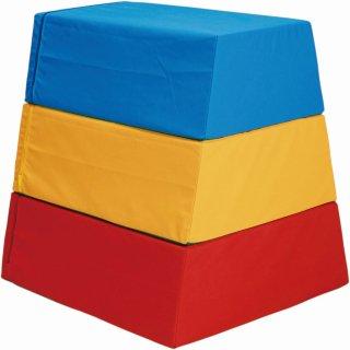 ウレタン跳び箱 三段三色/頭部三色/ブルー3段/ブルー4段【別途送料・都度見積】