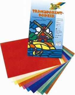 トランスパレント 10色10枚(30×18.5cm)