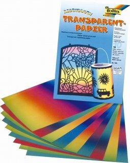 トランスパレント レインボー色10枚厚地タイプ(22.5×32cm)