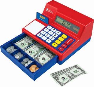 電卓式レジ 米ドル付き 赤