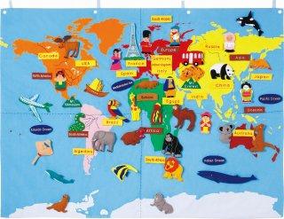 布製世界地図