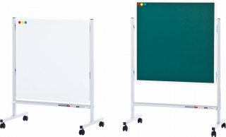 高さ2段階 発表用ホワイトボード ホワイト×黒板 【別途送料・都度見積】