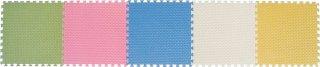 ジョイントクッション 45cm角 6枚組 ライトグリーン/ローズ/ライトブルー/アイボリー/イエロー