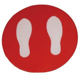 足形マーク付きプレート 5枚組 赤/青/黄/緑【赤欠品中:次回入荷未定】