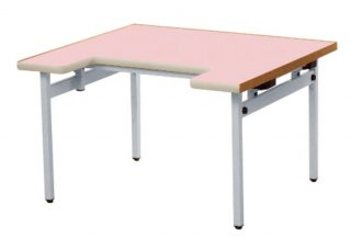 特別支援向け折畳式昇降テーブル ブルー/ピンク/アイボリー【別途送料・都度見積】