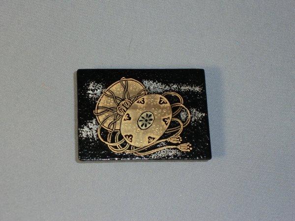 帯留め 鼓(長方形)