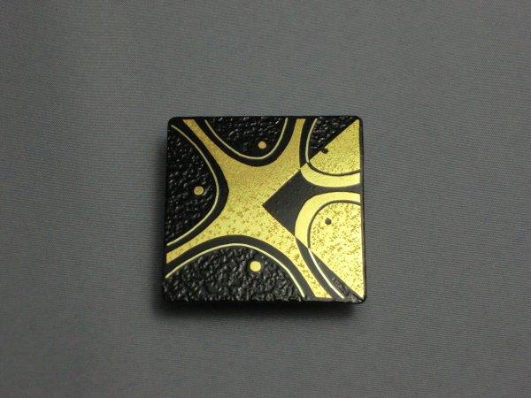 帯留め キュビズム模様(正方形)