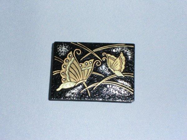 帯留め 蝶(長方形)