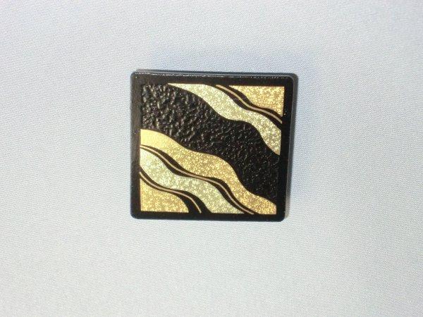 帯留め  斜めよろけ縞(正方形)