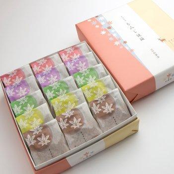 5種15個入り(こしあん・つぶあん・ほしぞら抹茶・クリーム・チョコレート)
