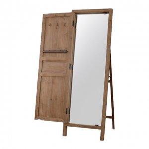 【送料無料】 木製ドア付きミラー