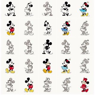 Mickey & Minnie animation / IXXI ウォールピクチャー