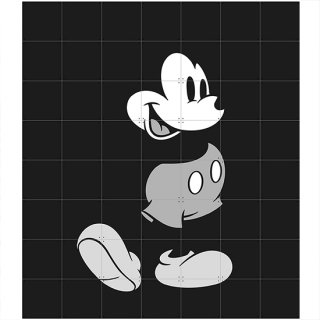 Mickey Mouse Black & White / IXXI ウォールピクチャー