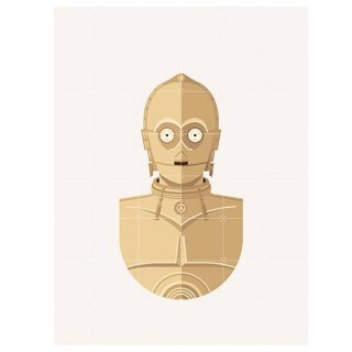 Star Wars SW Icon : C-3PO / IXXI ウォールピクチャー