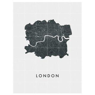 London city map / IXXI ウォールピクチャー ロンドンマップ