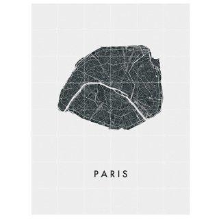 Paris city map / IXXI ウォールピクチャー/ パリ マップ