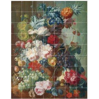 Still life of Fruit and Flowers / IXXI ウォールピクチャー