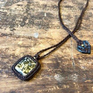 Macrame Wala / Necklace / Ocean Jasper