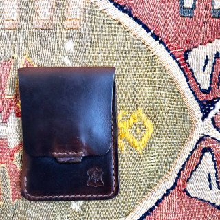 OROX LEATHER Co./ Vartical Card Holder /Brown