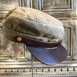 OROX LEATHER Co./ CANVAS WORK CAP/BROWN