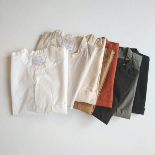 Manual Alphabet<br>LOOSE FIT BAND COLLAR S/S SHIRT 【メール便にてお届け致します】