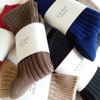 LENO<br>THE SOCKS Cotton Rib Socks<br>22-24cm ( Small )