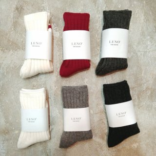 LENO<br>THE SOCKS Wool Rib Socks / 22-24cm ( Small )
