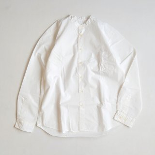 Manual Alphabet<br>LOOSE FIT BAND COLLAR SHT 【メール便にてお届け致します】