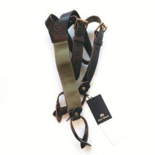 <img class='new_mark_img1' src='https://img.shop-pro.jp/img/new/icons56.gif' style='border:none;display:inline;margin:0px;padding:0px;width:auto;' />Nigel Cabourn<br>LEATHER SUSPENDER PEAT LABEL