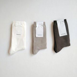 hakne <br> シルクコットンダブルフェイスソックス / Silk Cotton Double-faced Socks