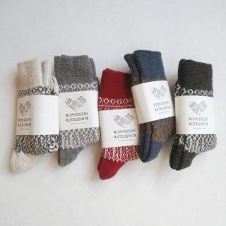 NISHIGUCHI KUTSUSHITA/ウールジャーガードソックス/ ladies 23-25cm