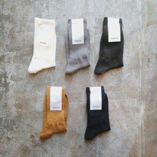 hakne <br> メリノウールリブソックス / Merino Wool Ribbed Socks