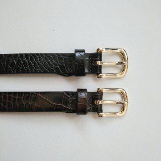 LENO<br>STIRRUP BELT CROCODILE  Embossed